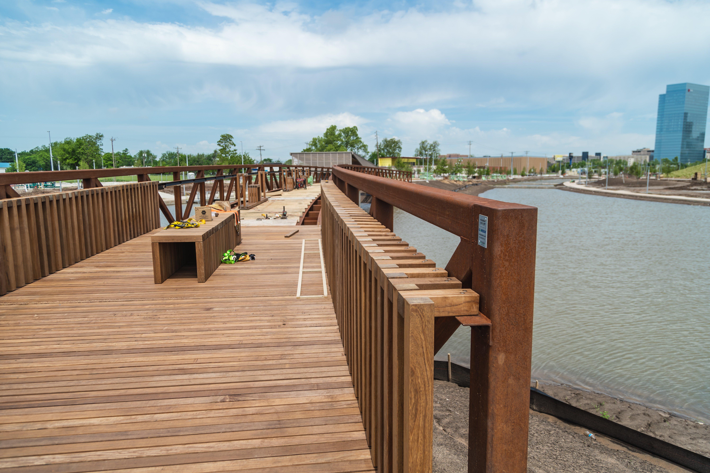 240-foot pedestrian bridge progress